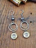 Double Round Fine Stainless Ring Bullet Dangles-SureShot Jewelry