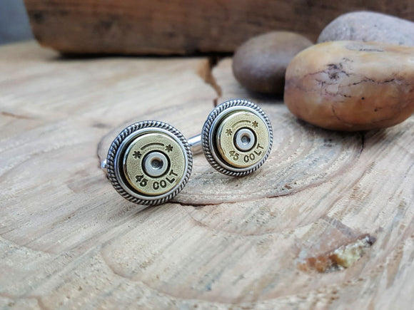 45 Colt Bullet Cuff Links-SureShot Jewelry
