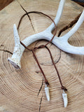 Suede Cord Antler Tip Choker Necklace-SureShot Jewelry
