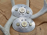 Hair Barrette - Bullet & Shotshell Oval French 20g & 9mm Hair Barrettes-SureShot Jewelry
