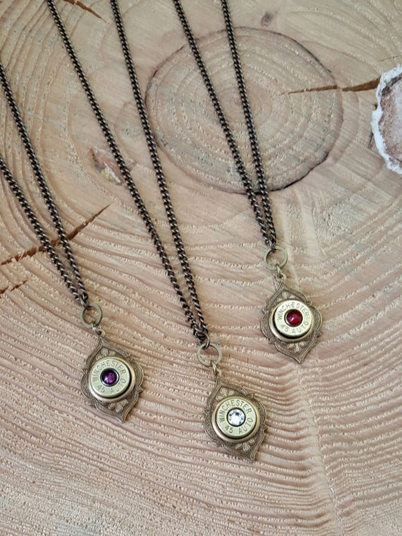 Brass Bohemian Style Long Bullet Necklace - Great for Layering