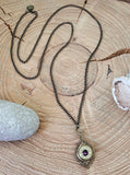 Brass Bohemian Style Long Bullet Necklace - Great for Layering-SureShot Jewelry