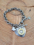 Shot Thru the Heart Shotshell Charm Bracelet-SureShot Jewelry