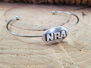 NRA Stainless Steel Wire Bangle Bracelet