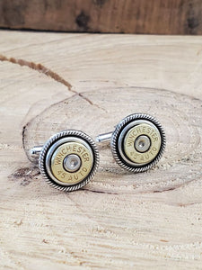 45 Auto Bullet Cuff Links-Cuff Links-SureShot Jewelry