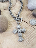 Gothic Style Bullet Cross Statement Necklace-Necklace-SureShot Jewelry