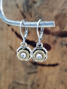 Petite Square Frame Pendant Bullet Earrings - 25 Auto-SureShot Jewelry