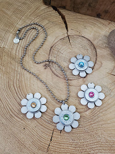 20 Gauge Shotgun Casing Flower Necklace-Necklace-SureShot Jewelry