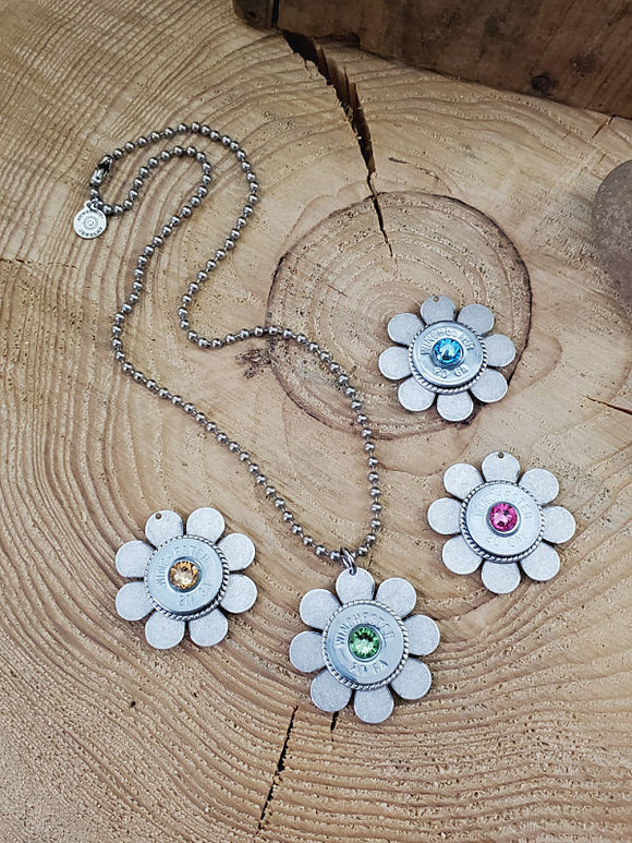 20 Gauge Shotgun Casing Flower Necklace