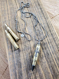 Rifle Casing, Cross and Hemalyke Bullet Necklace-Necklace-SureShot Jewelry