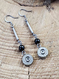 Bullet and Bar Beaded Earrings-SureShot Jewelry