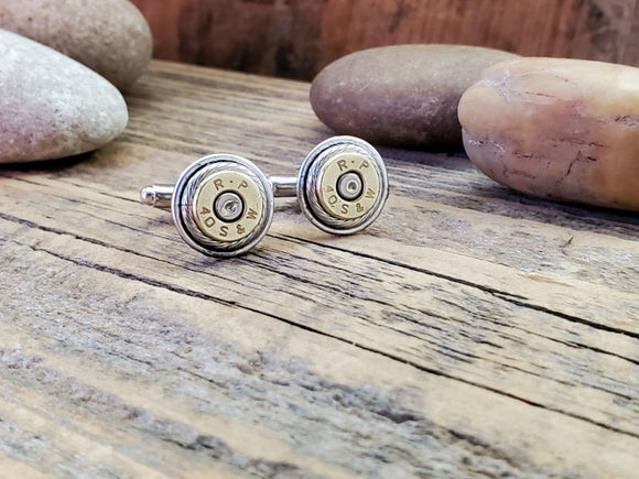Bullet Cuff Links - Classic Styling - Great Size! - 40 Cal