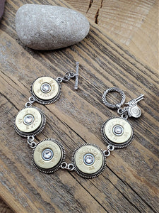 Brass 20 Gauge Shotshell Bracelet-SureShot Jewelry