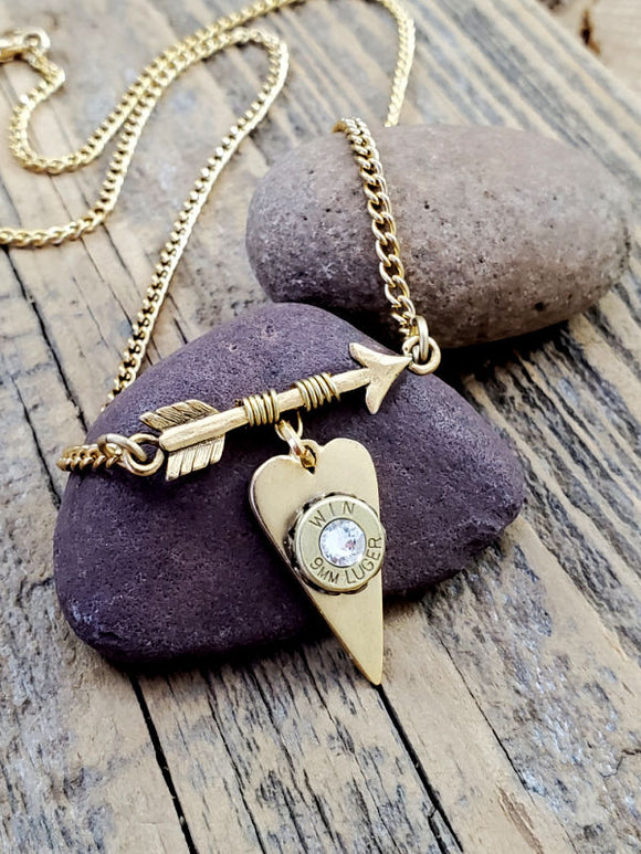 GOLD Follow Your Arrow Bullet Necklace - BEST SELLER!-SureShot Jewelry