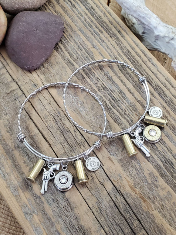 Wire Bullet Bangle Bracelet - Great for Layering!-SureShot Jewelry