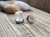 Brass 44 Magnum Bullet Cuff Links