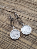 Buffalo Nickel Coin Earrings-SureShot Jewelry
