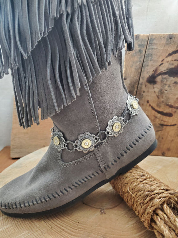 Concho Style Silver Boot Bracelet-SureShot Jewelry