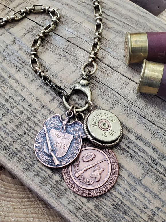 Skeet/Trap Shooting Themed Multi-Charm Necklace