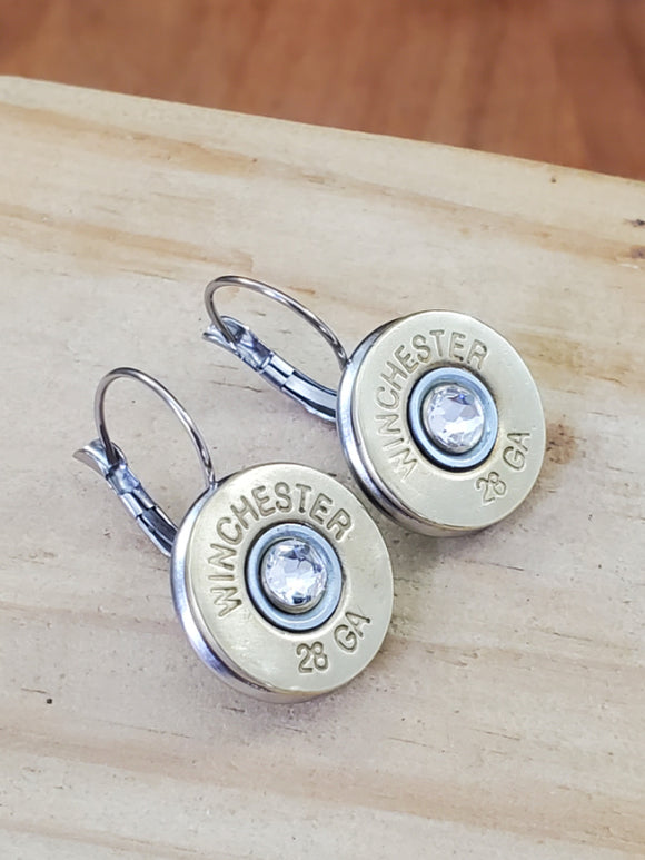 28 Gauge Shotshell Stainless Bullet Earrings