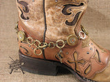 20 Gauge Brass Boot Bracelet-SureShot Jewelry