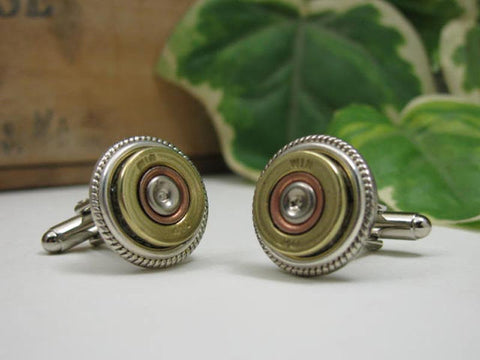 Brass 410 Gauge Shotshell Cuff Links