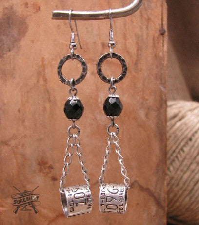 Duck Band Chain Dangle Beaded Earrings
