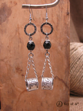 Duck Band Chain Dangle Beaded Earrings-SureShot Jewelry