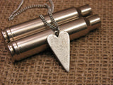 Heart Shape 9mm Bullet Necklace-SureShot Jewelry