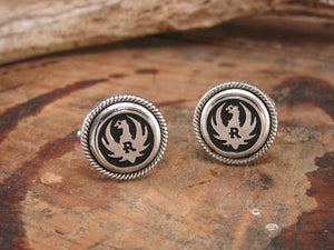 Genuine RUGER Grip Medallion Cuff Links-SureShot Jewelry