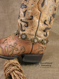 Concho Style Brass Boot Bracelet-SureShot Jewelry