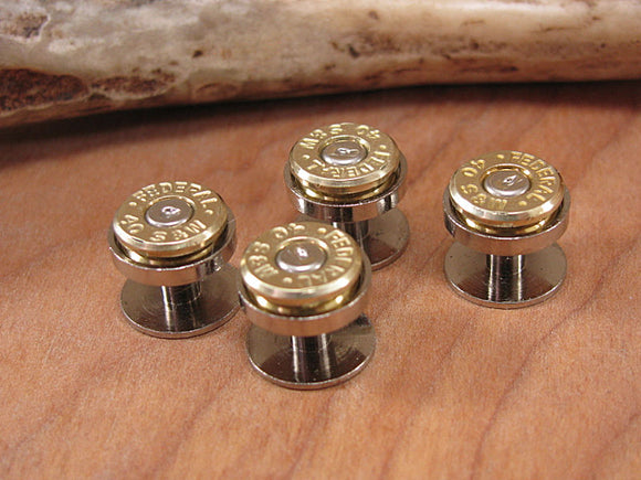 Bullet Casing Tuxedo Buttons - Set of 4-SureShot Jewelry