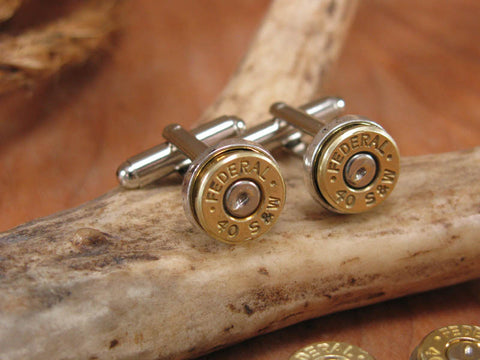 Classy Bullet Casing Cuff Links