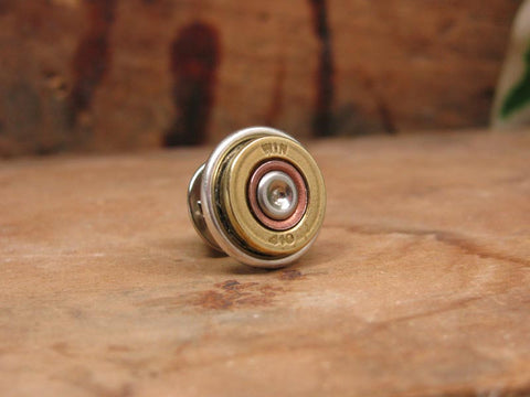 410 Gauge Shotgun Casing Tie Tack / Lapel Pin / Purse or Hat Pin