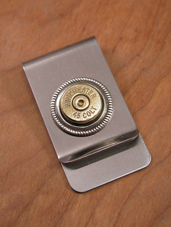 Brass Bullet Money Clip - 45 COLT-SureShot Jewelry