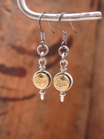 22 Caliber Petite Pendulum Style Dangle Earrings