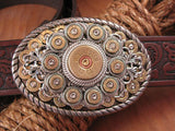 Bullet & Shotshell Oval Belt Buckle II-SureShot Jewelry