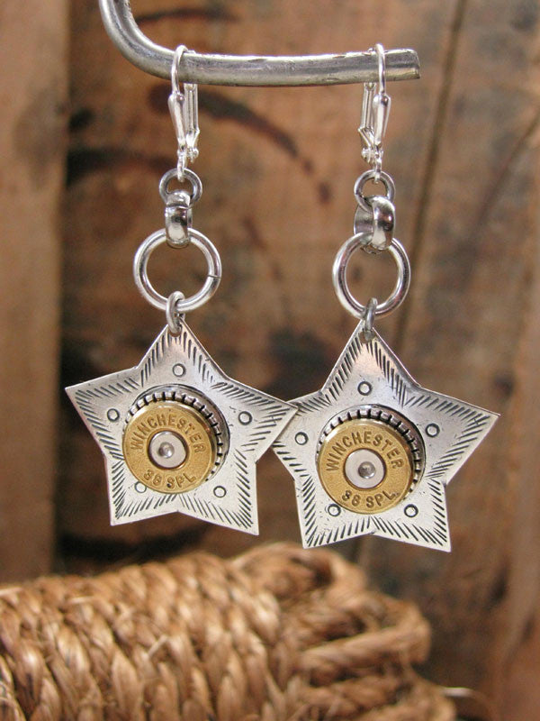 "The Original ""Shooting Star"" Bullet Casing Dangle Earrings"