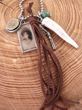 "Annie Oakley Theme - ""Little SureShot"" Shotshell, Antler Charm Necklace-SureShot Jewelry"