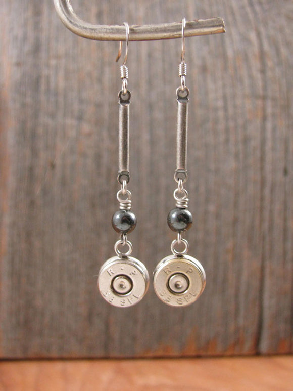 Bead and Bar Modern Bullet Earrings-SureShot Jewelry