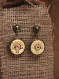20 Gauge Shotshell Brass Post Dangle Earrings-SureShot Jewelry