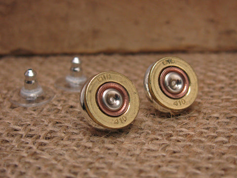 410 Gauge Shotgun Casing Stud Earrings