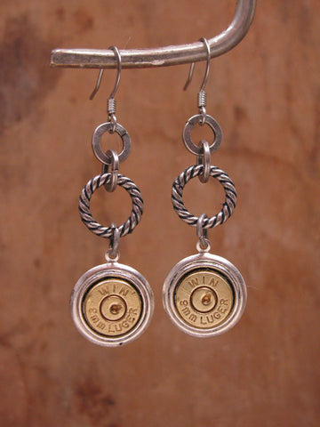 9mm Bullet Dangle Earrings