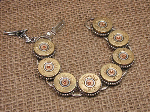 28 Gauge 8-Shell Shotgun Casing Bracelet