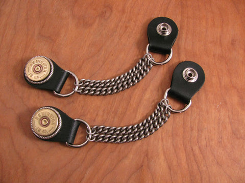 Vest Extenders - Biker Accessories - Men's 12 Gauge Shotshell Chain Vest Extenders
