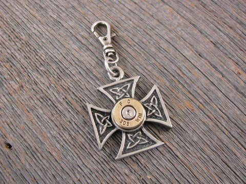 Zipper Pull - Maltese Cross Bullet Zipper Pulls