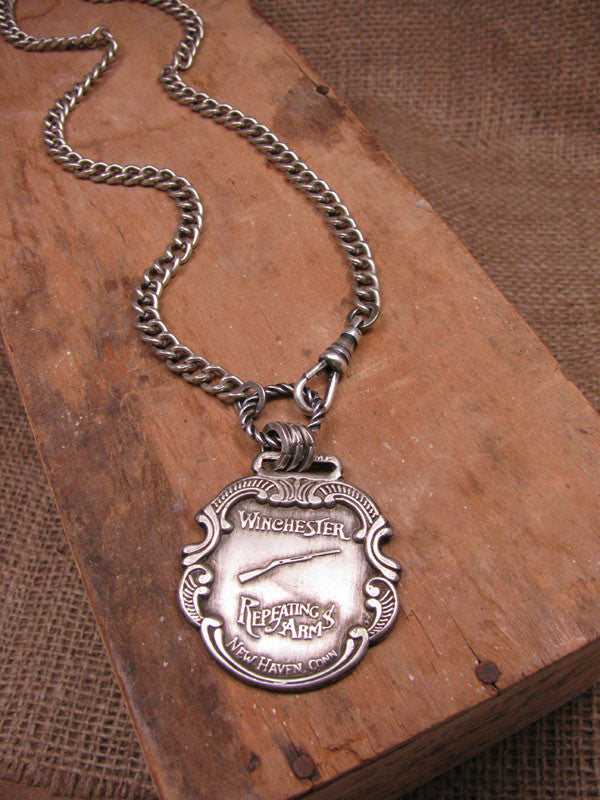 Vintage Winchester Watch Fob Necklace