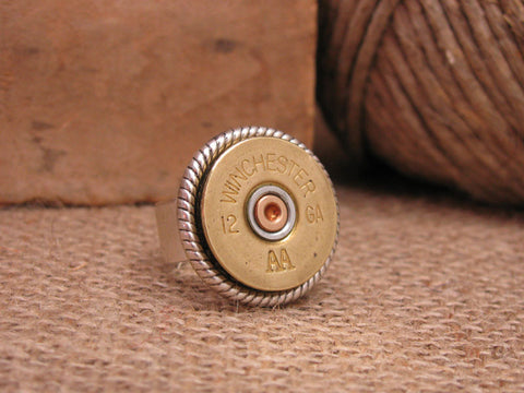 12 Gauge Shotshell Statement Ring