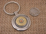 20 Gauge Shotshell Round Silver Key Ring-SureShot Jewelry