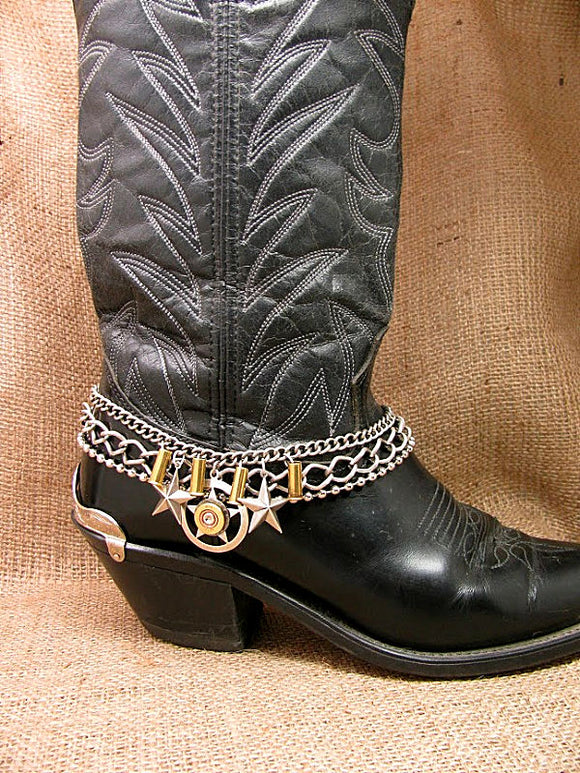 410 Gauge Lone Star Theme Multi-Chain Boot Bracelet
